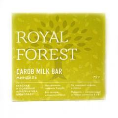 Шоколад ROYAL FOREST миндаль, 75 гр. (ТрансКэроб)