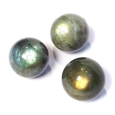 Бусины лабрадорит АА шар гладкий 17 мм 1 бусина
