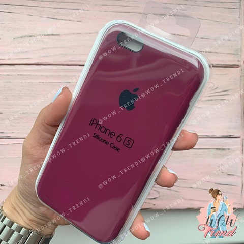 Чехол iPhone 6+/6s+ Silicone Case /marsala/ марсал 1:1