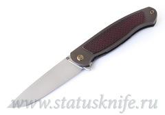 Нож Чебуркова Скаут М390 красный карбон