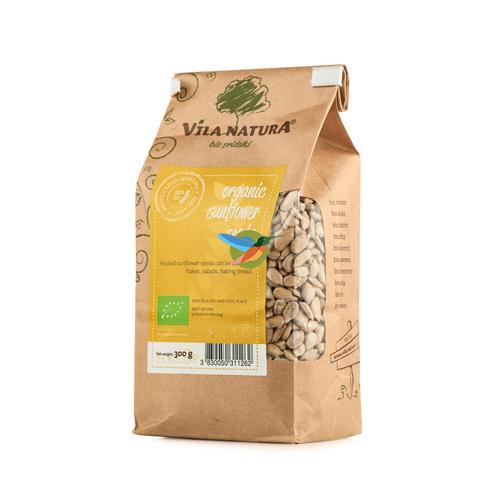 Семена подсолнечника очищенные сырые BIO, 300 гр (Словения)