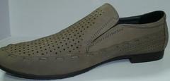 Летние мужские туфли лоферы бежевые Welfare