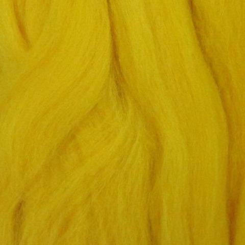 Шерсть для валяния полутонкая 12 Желток (Пехорка), фото