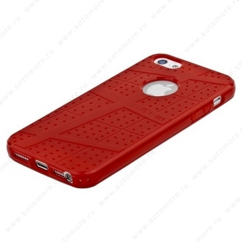 Накладка Ou Case для iPhone SE/ 5s/ 5C/ 5 - Ou case TPU case Red