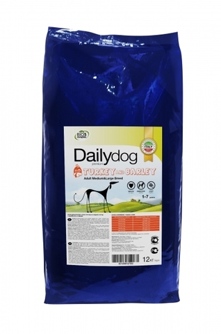 Сухой корм DailyDog Adult Medium and Large Breed turkey and barly для взрослых собак средних и крупных пород с индейкой и ячменем 12 кг