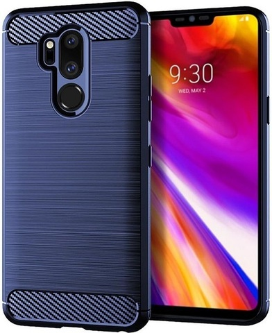 Чехол LG G7 ThinQ (G7+ ThinQ) цвет Blue (синий), серия Carbon, Caseport