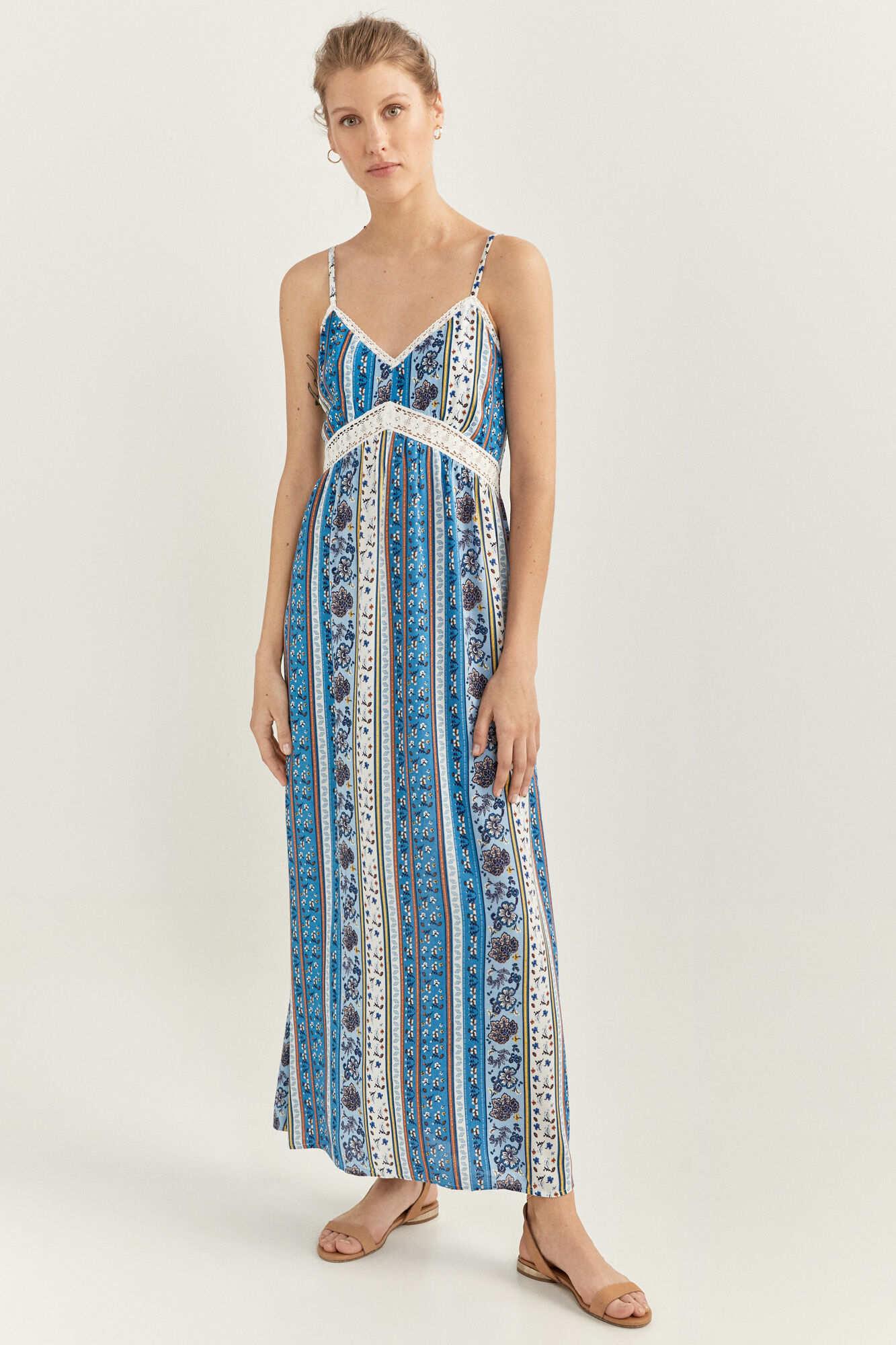 Довга сукня з квітковим принтом