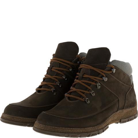 636316 Ботинки мужские коричневые нубук. КупиРазмер — обувь больших размеров марки Делфино