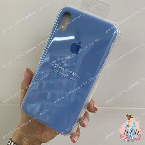 Чехол iPhone XS Max Silicone Case /cornflower/