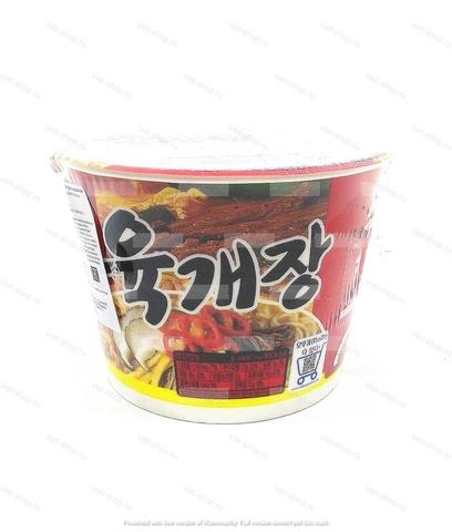 Корейская пшеничная лапша со вкусом говядины Ottogi (Оттоги) Yukgaejang Ramen (Юкгеджан Рамен), 110 гр.