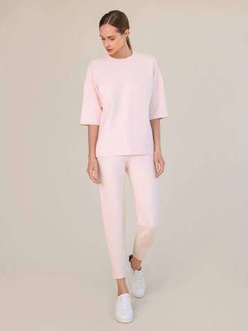 Женские брюки светло-розового цвета из вискозы - фото 2
