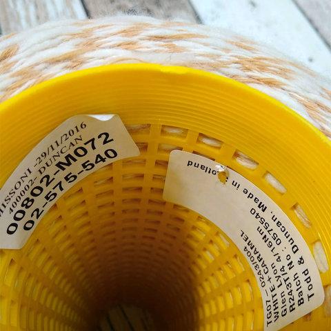 Смесовка с кашемиром (45%) Todd & Duncan GLEN LYON 400 бело-желтый