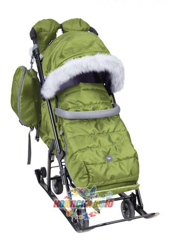 Санки-коляска «Ника детям» 7-5S зелёные