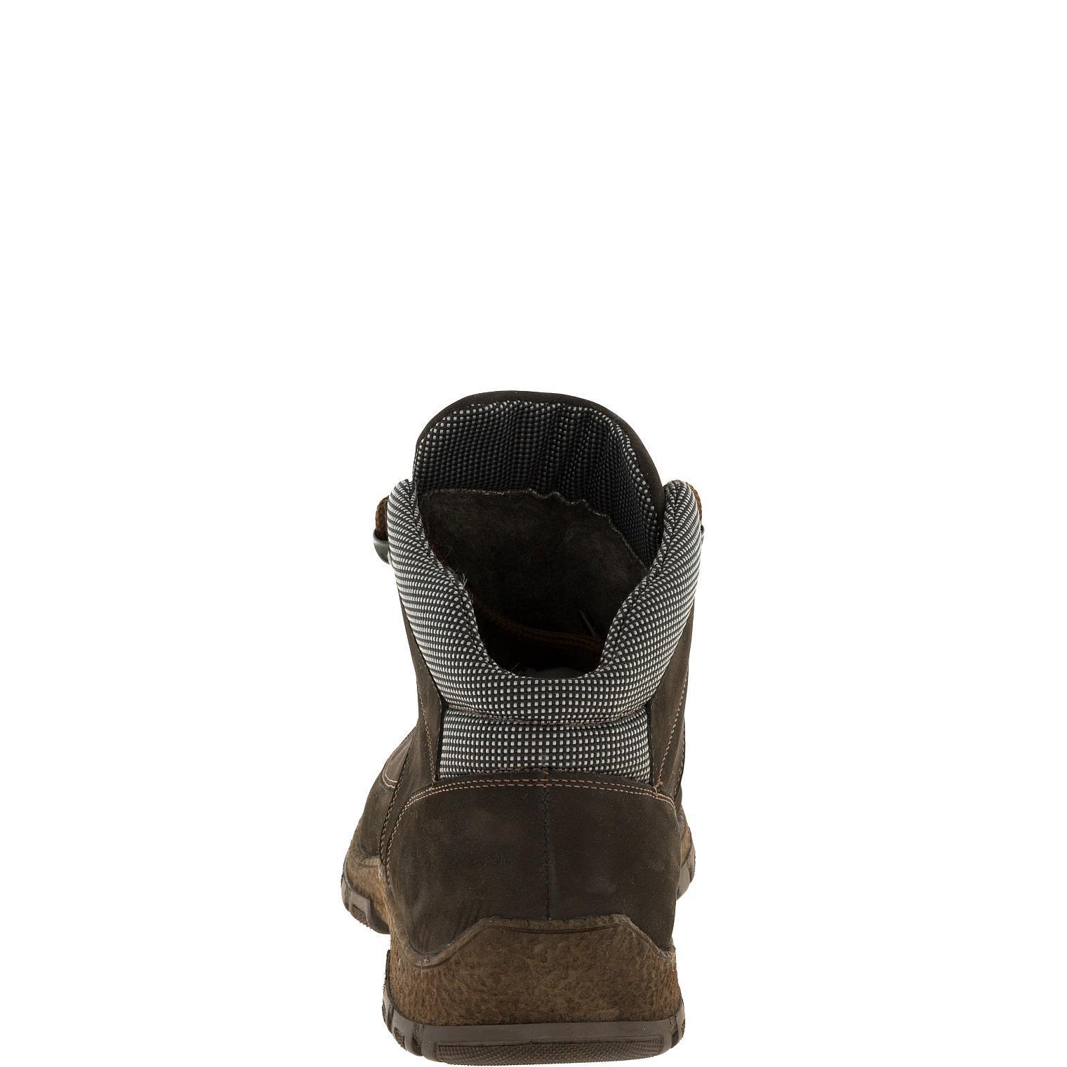636316 Ботинки мужские коричневые нубук больших размеров марки Делфино