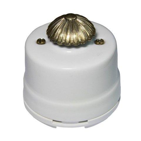 Светорегулятор, для наружного монтажа. Цвет Белый. Salvador. OPDMWT