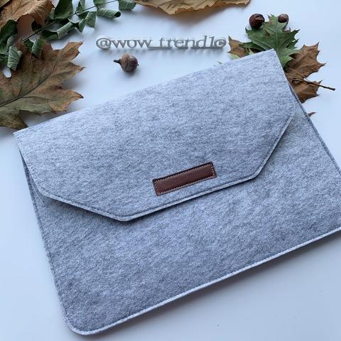 Папка конверт для MacBook Felt sleeve bag 11.6'' /gray/