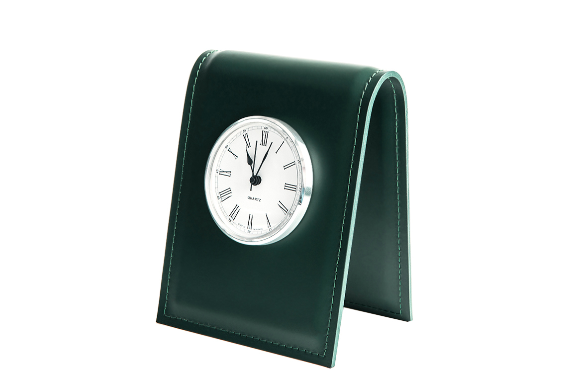 Часы D85 Buvardo из кожи цвет ЗЕЛЕНЫЙ
