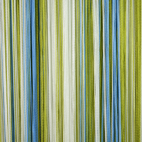 Кисея радуга Белая, голубая, оливковая. Ш-300см., В-280см. Арт.105