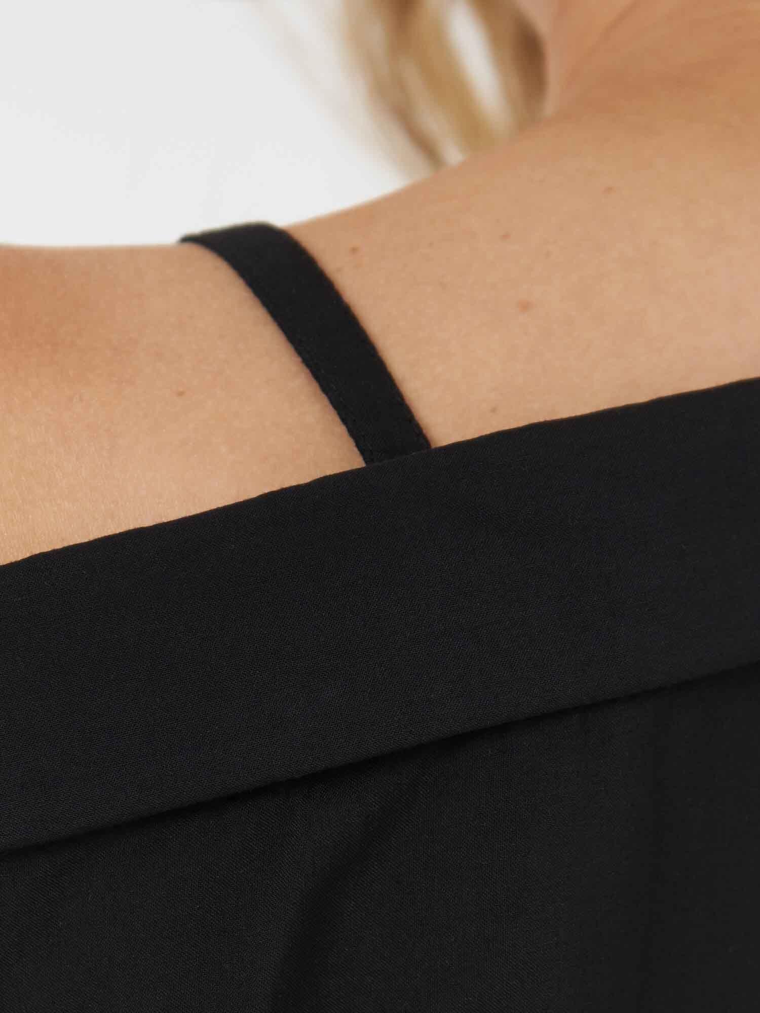 Рубашка Lara с прямой бретелью, Черный