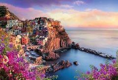 Картина раскраска по номерам 40x50 Вид на город и море