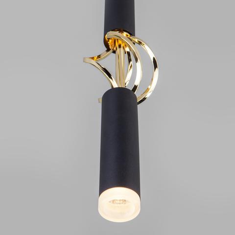 Подвесной светодиодный светильник 50191/1 LED черный/золото