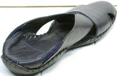 Модные мюли сандали из натуральной кожи мужские Luciano Bellini 76389 Blue.