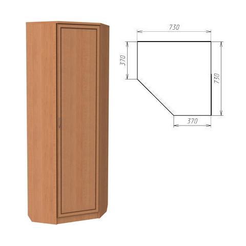 Шкаф угловой со штангой и полками (Гарун-402)