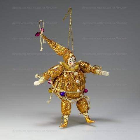 Клоун-шар - подвесная игрушка ручной работы