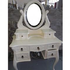 """Туалетный столик с зеркалом """"WA 016"""" —  Слоновая кость (MK-2462-IV)"""