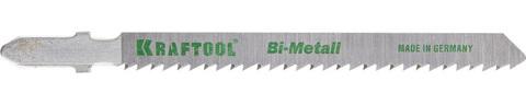 Полотна KRAFTOOL, T101BF, для эл/лобзика, Bi-Metall, по твердому дереву, чистый рез, EU-хвост., шаг 2,5мм, 75мм, 2шт