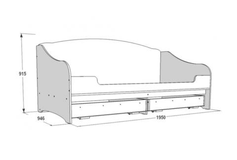 Кровать одинарная с подушками 1900*800 (900)