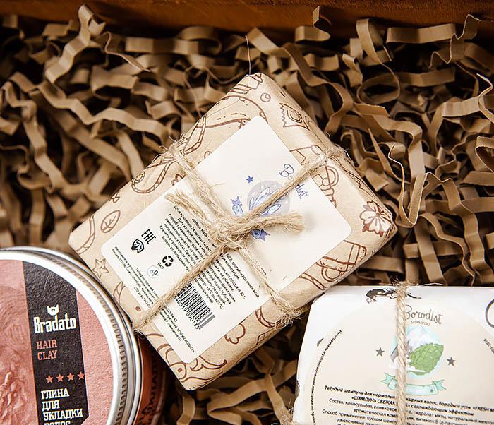 Мужской набор из мыла для волос, тела и глина для укладки фото 02