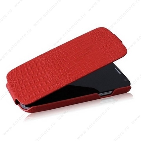 Чехол-флип Borofone для Samsung Galaxy S4 i9500/ i9505 - Borofone Crocodile Leather case Red