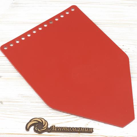"""Клапан для рюкзачка кожаный """"Красный"""""""