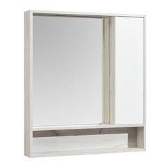 Зеркальный шкаф Aquaton Флай 80 белый, дуб крафт 1A237702FAX10