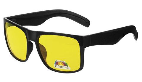 Очки с желтыми поляризованными линзами. Артикул А01. Вид полупрофиль
