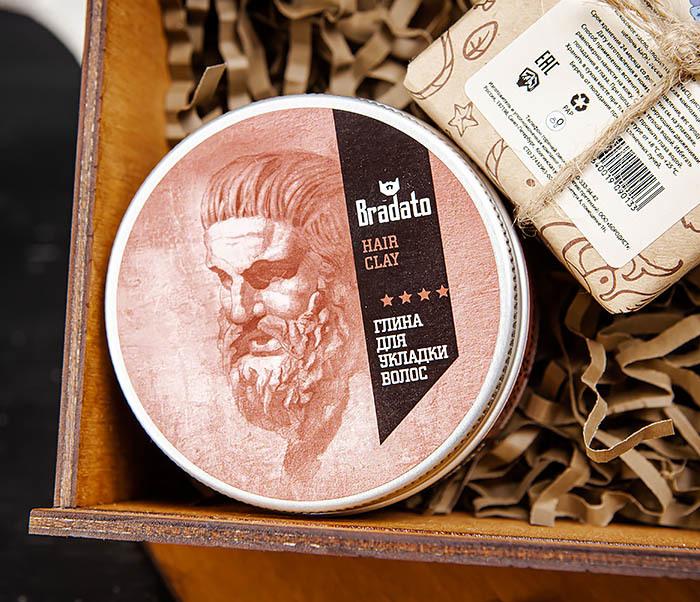 Мужской набор из мыла для волос, тела и глина для укладки фото 04