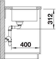 Мойка Blanco Subline 700-U схема