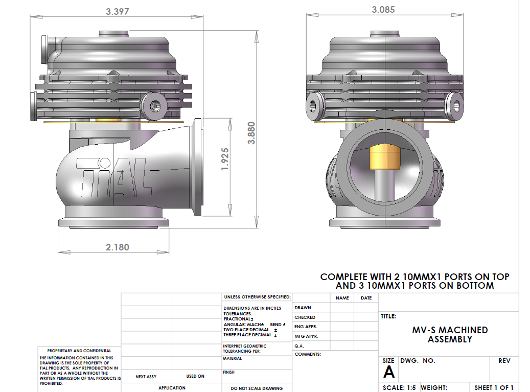 Вейстгейт TIAL MV-S 38mm