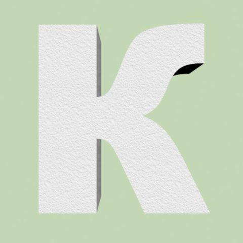 Буква К  шрифт Arial