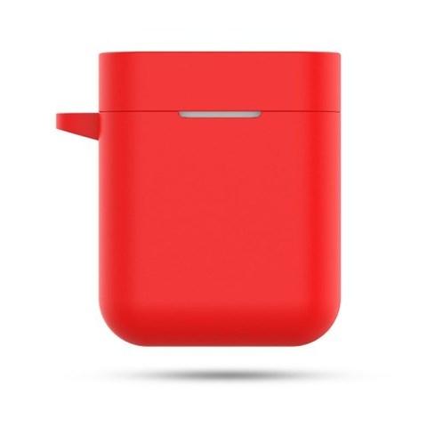 Чехол на Xiaomi Airdots Pro силиконовый (красный)