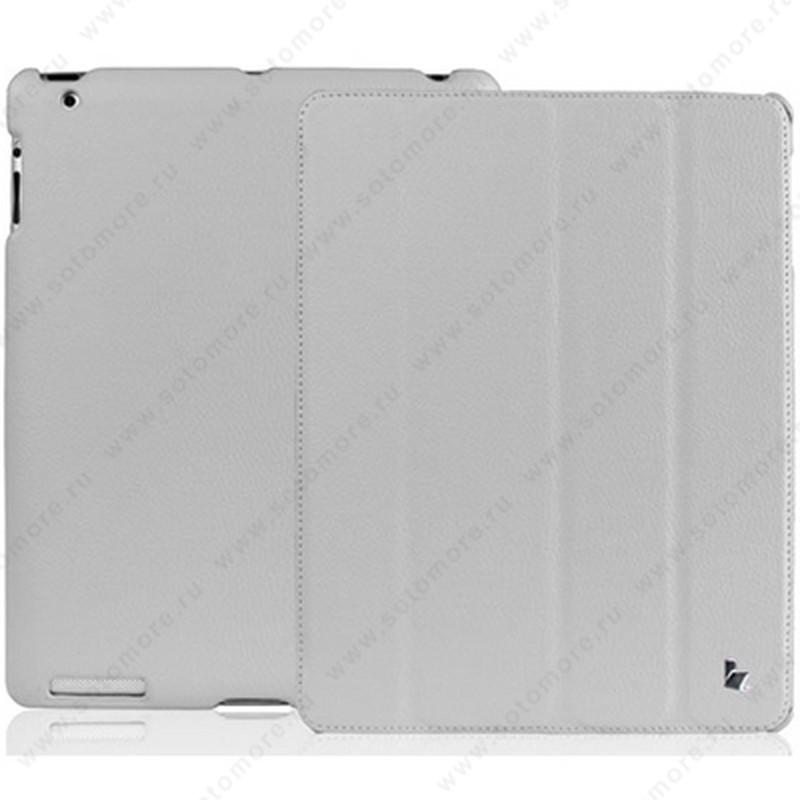 Чехол-книжка Jisoncase для Apple iPad 4/ 3/ 2 JS-IPD-07I с логотипом серый