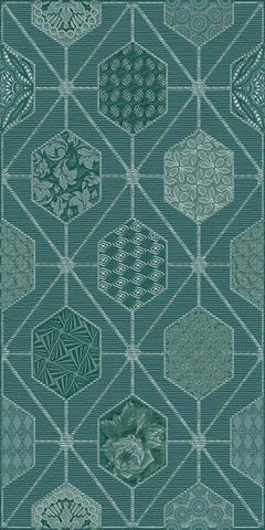 Декор AZORI Devore indigo geometry 315x630 (шт.)