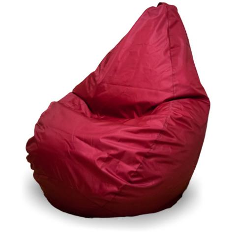 Бескаркасное кресло «Груша» XL, Бордовый