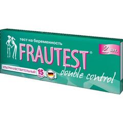 Тест на беременность Frautest Double Control полоски (2 штуки в упаковке)