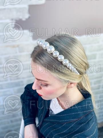 Жемчужный ободок для волос Фиона