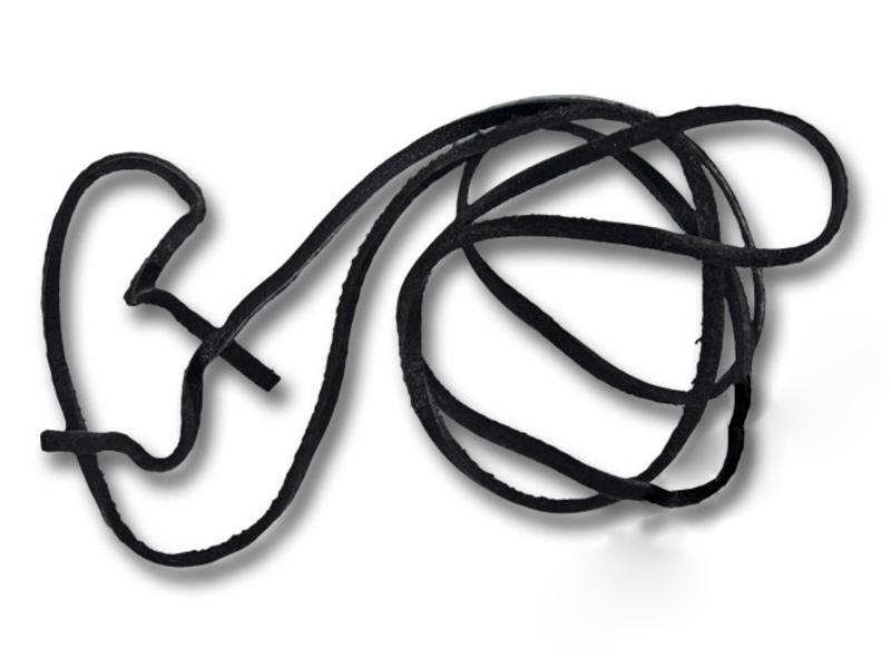 Шнур 60-65 см кожаный 2-3 мм без замка для кулонов RH00253