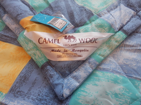 Одеяло стеганое из верблюжьей шерсти фото 200х220