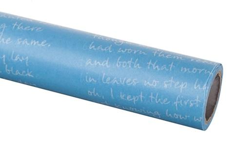 Бумага вощеная 65 см 10м, Письмо, голубой