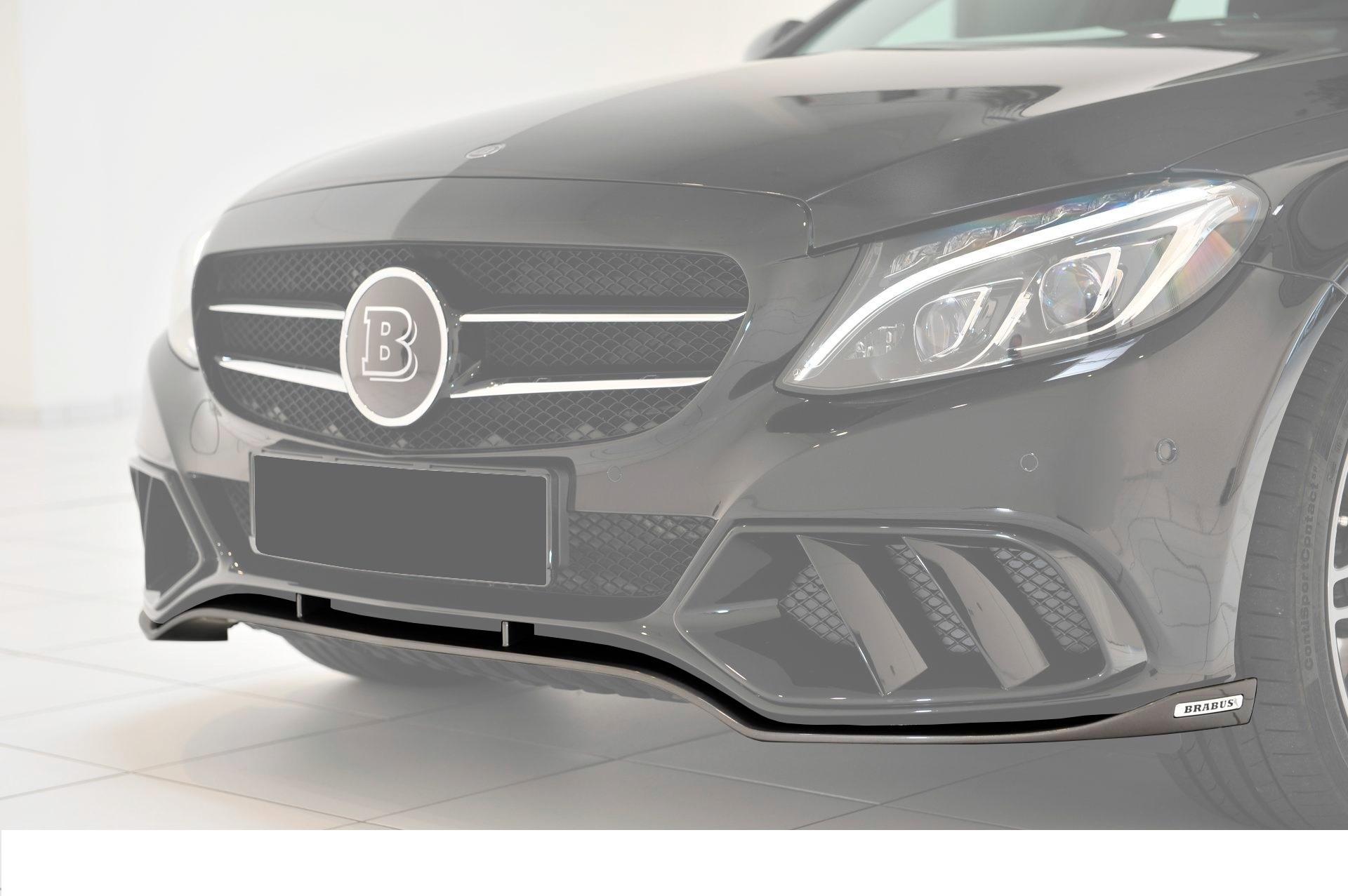 Карбоновый cпойлер переднего бампера Brabus Style для Mercedes С-class W205